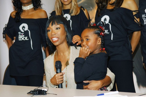 Brandy with daughter Sy'Rai