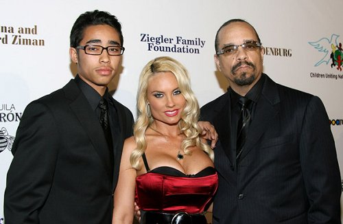 Rapper Ice T,Wife Coco And Son Little Ice At Oscars Afterparty -7803