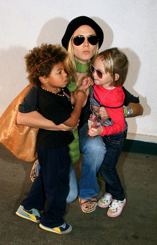 heidi klum kids photos. Heidi Klum and her two