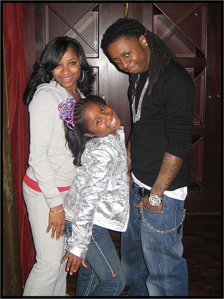 lil waynehis exwife antonia carter and their daughter