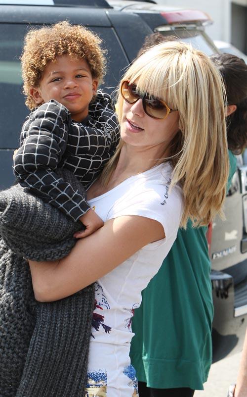 heidi klum. Heidi Klum and her son Henry