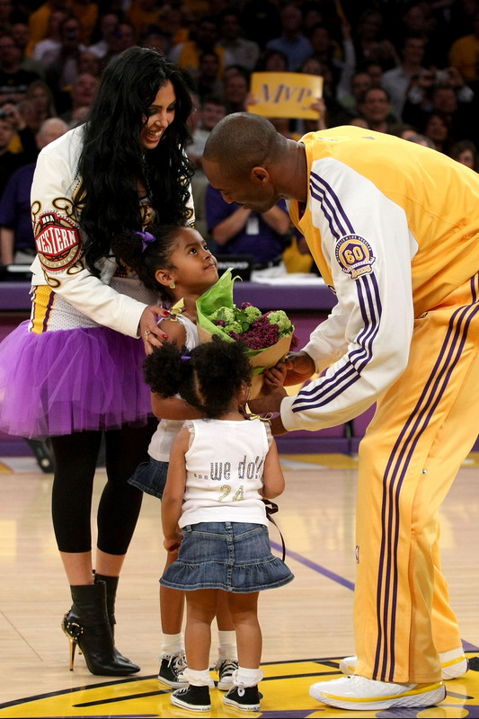 kobe bryant wife and kids. NBA player Kobe Bryant of the