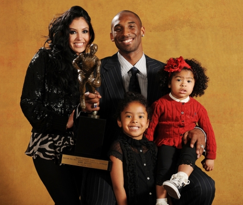 KOBE BRYANT WINS 1ST MVP AWARD;WIFE AND KIDS REJOICE WITH ...