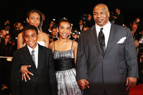 MIKE TYSON AND KIDS ATTEND FILM PREMIERE AT CANNES