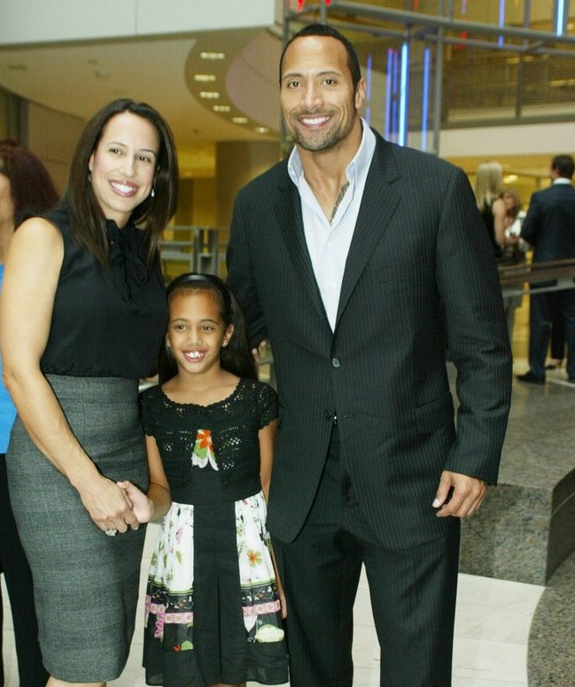 The Rock And His Wife And Kids