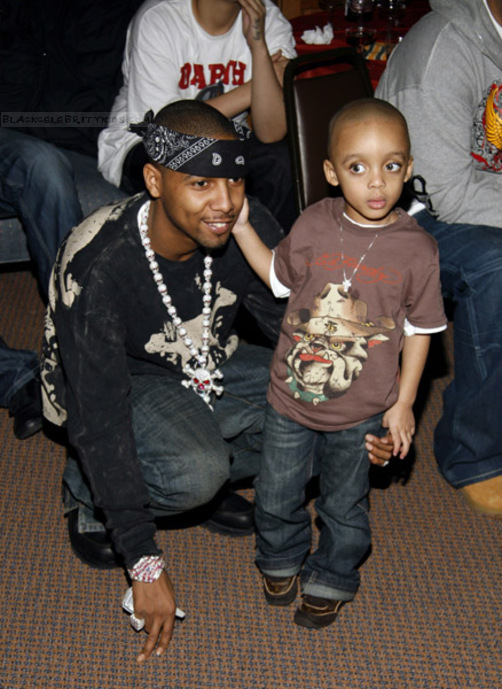 candids with rapper juelz santana and son juju