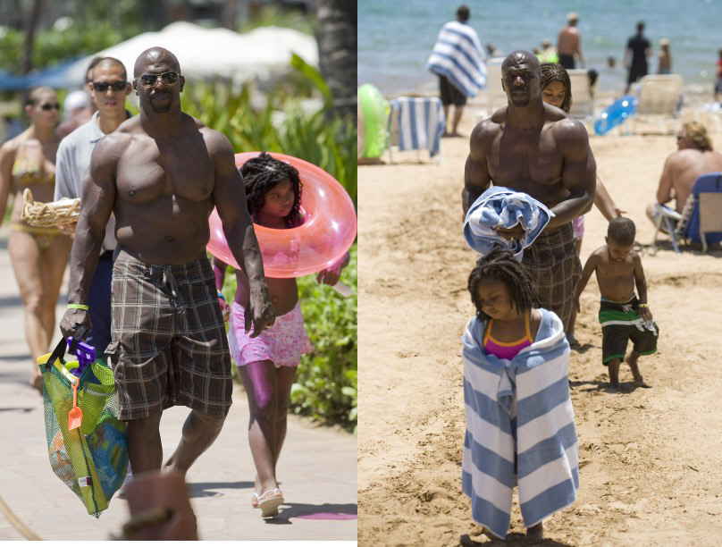 Actor Terry Crews Of Everybody Hates Chris Is Pictured With His Children While On Vacation In Hawaii All Has Five Wife