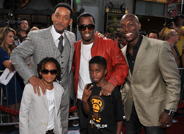 Sean P  Diddy Combs and two of  P Diddy Oldest Son