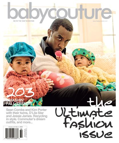 KIM PORTER,DIDDY AND TWINS DO BABY COUTURE