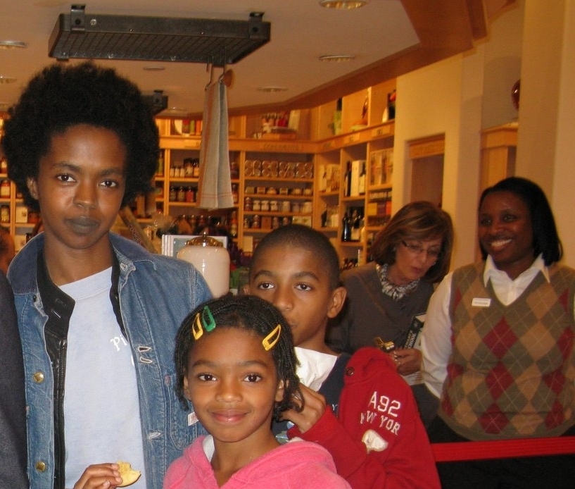 LAURYN HILL AND KIDS COME OUT OF HIDING ...