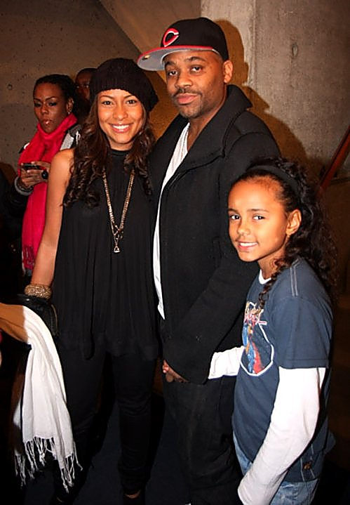 DAMON DASH AND HIS DAUGHTER AVA'S THEATER NIGHT OUT